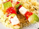 Рецепта Вегетариански шишчета с кускус